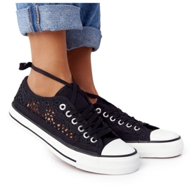 FB2 Candice Sneakers för svarta spetsar för kvinnor