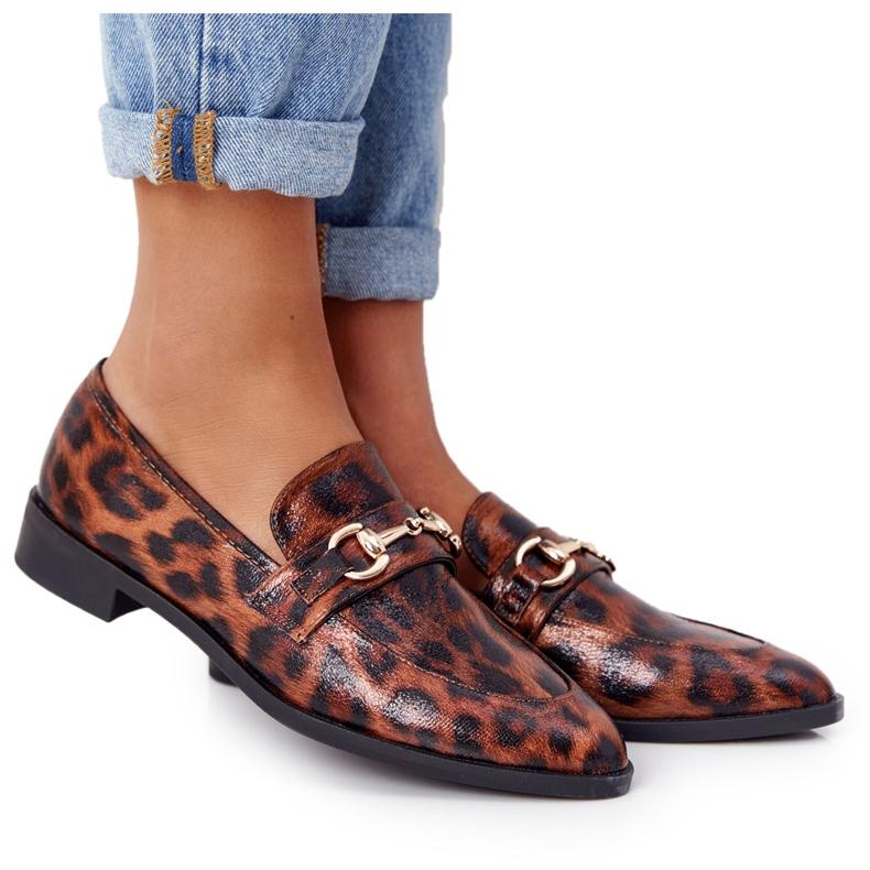 S.Barski Eleganta Loafers för kvinnor S. Barski Leopard brun