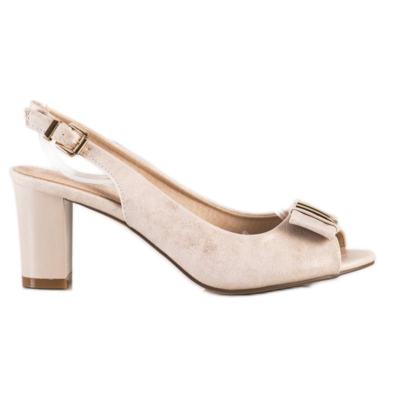 Evento Eleganta sandaler med höga klackar beige