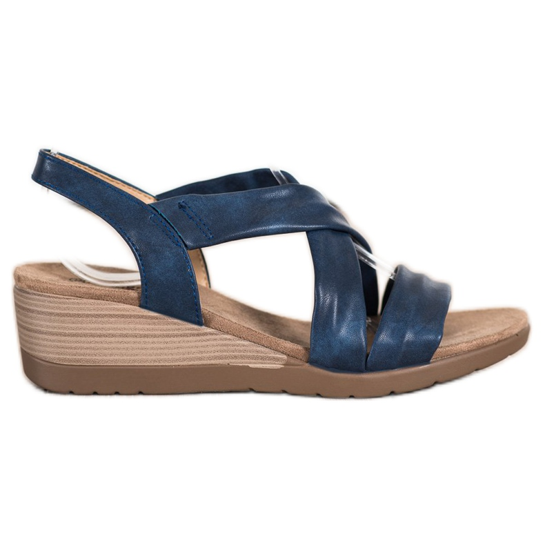 S. BARSKI Wedge Sandals S.BARSKI blå