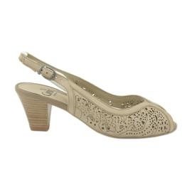 Caprice sandaler kvinnors openwork skor 29606 brun