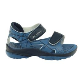Blå sandaler Barnens kardborreband för vatten Rider