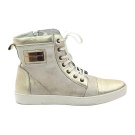 Guld Nikopol 522 läder sneakers