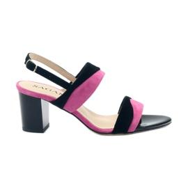 Sandaler för kvinnor Sagan 2687 svart fuchsia