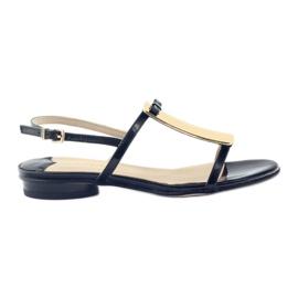 Kvinnors sandaler gulddekoration Sagan 2698