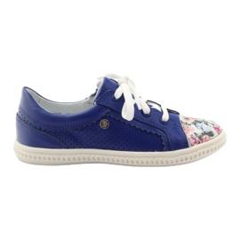 Blå Flickornas låga skor blommar Bartek 15524