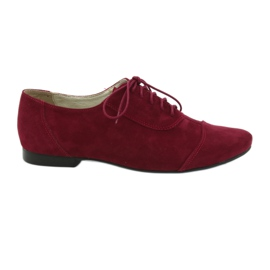 Kvinnors läder oxford Angello burgundy