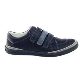 Boys skor, velcro Bartuś, marinblå