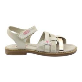American Club Gladiatorens sandaler beige och guld