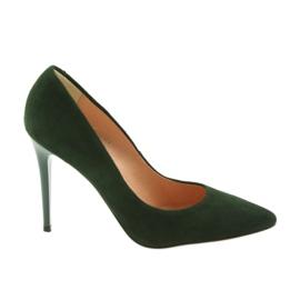 Espinto Pumpar På En Grön Stiletto