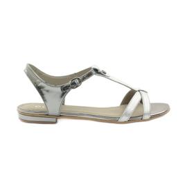 Kvinnors sandaler EDEO wz.3087 silver grå