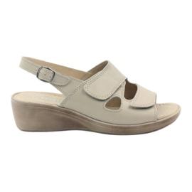 Brun Gregors 592 beige kvinnors sandaler