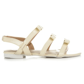 Vices gul Lacquered Sandals With Bows