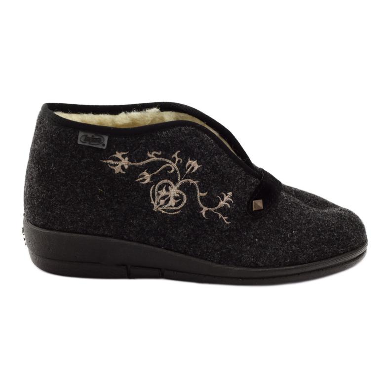 Befado kvinnors skor tofflor med päls 031d028 grå