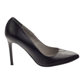Edeo Pumps On High heel 3180 black svart