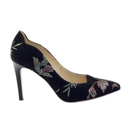 Anis Pumps på High Heel Brodery 4566 black