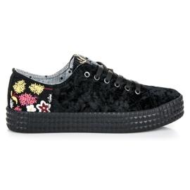 Kylie svart Velvet Black Sneakers