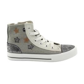 Grå Sneakers bundna Big Star 374068