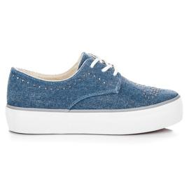 Kylie Sneakers med kristaller blå