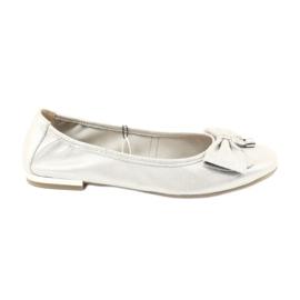 Caprice ballerinas skor 22111 silver grå