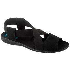 Svart Adanex 17498 kvinnors skor