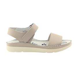 Filippo Bekväma sandaler med beige velcro brun