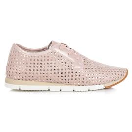 Kylie rosa Trendiga Tied Sneakers
