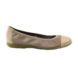 Caprice kvinnors skor ballerinas 22152 läder brun