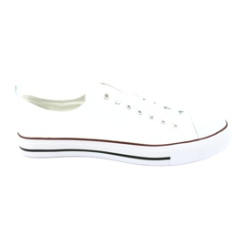 American Club Mäns vita amerikanska sneakers skor