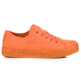 Kylie Orange Sneakers Espadrilles apelsin