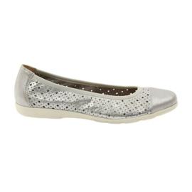 Caprice kvinnors skor ballerinas 22151 läder grå