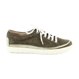 Caprice kvinnors skor läder sneakers 23654 grön