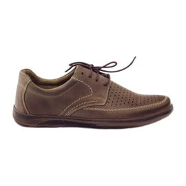 Brun Riko herrskor med perforerade skor 848
