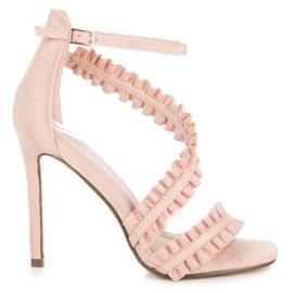 Seastar Sandaler Högklackat Med Frill rosa