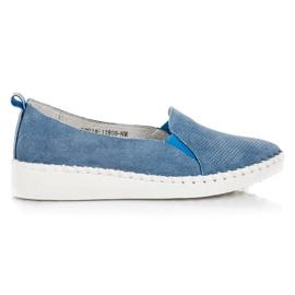Blå VINCEZA lädermokasiner