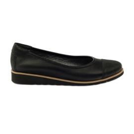 Svart Angello 1325 läder moccasin skor