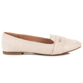 Small Swan Suede Loafers With Brocade brun