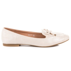 Small Swan brun Suede Moccasins With Bow
