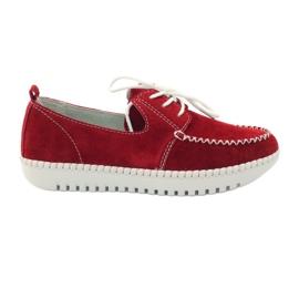 Röd Creepersy läderskor Filippo 020