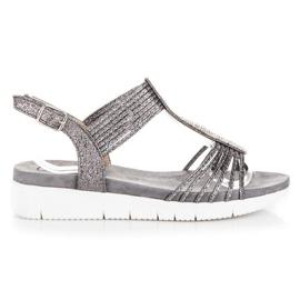 Kylie grå Sandaler Med kristaller