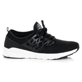 Ax Boxing svart Slip-on tyg skor