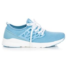 Ax Boxing blå Slip-on tyg skor