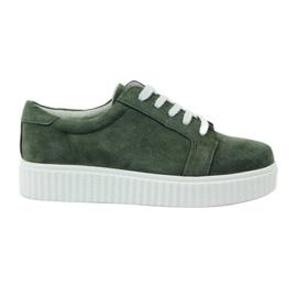 Creepersy läderskor Filippo 036 grön