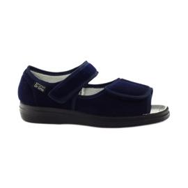 Marinblå Befado kvinnors skor pu 989D002