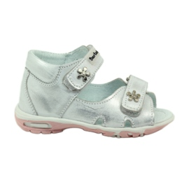 Grå Velcro sandaler Bartuś 120 silver