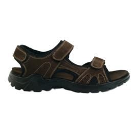 American Club brun Amerikanska lädermäns sandaler