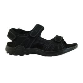 American Club svart Amerikanska lädermäns sandaler