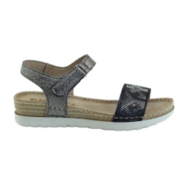 Sandaler bekväm INBLU silver-grafit grå