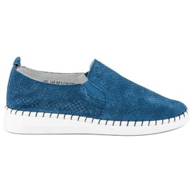 Filippo Openwork Slip-on skor blå