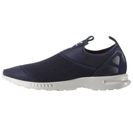 Marinblå Adidas Originals Zx Flux Slät Slip On W Shoes S78958